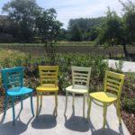 Cafestoel in kleur