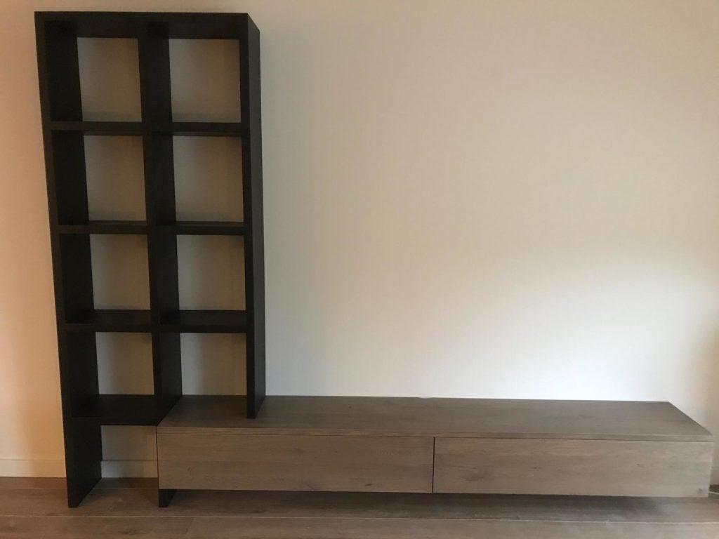 Vakkenkast en tv meubel in één