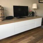 Zwevend eiken tv meubel