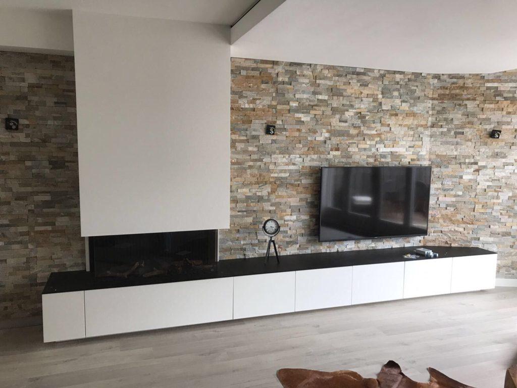 tv-meubel met elektrische haard