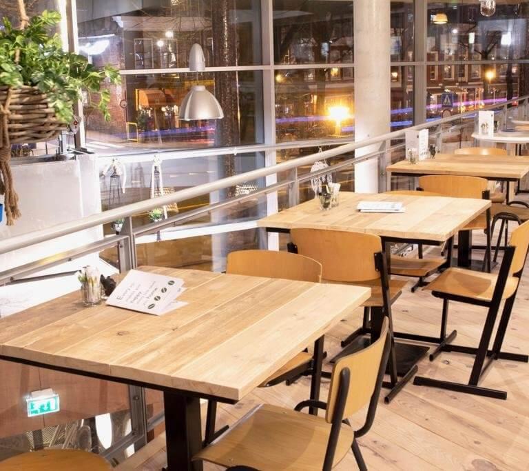 Horeca tafel massief hout