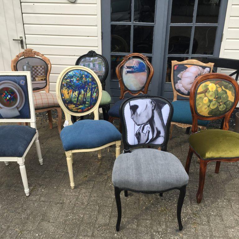 Brocante stoelen