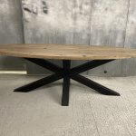 Spinpoot ovale tafel