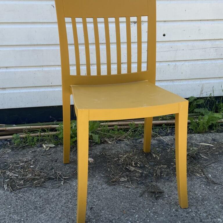 Buitenstoel geel
