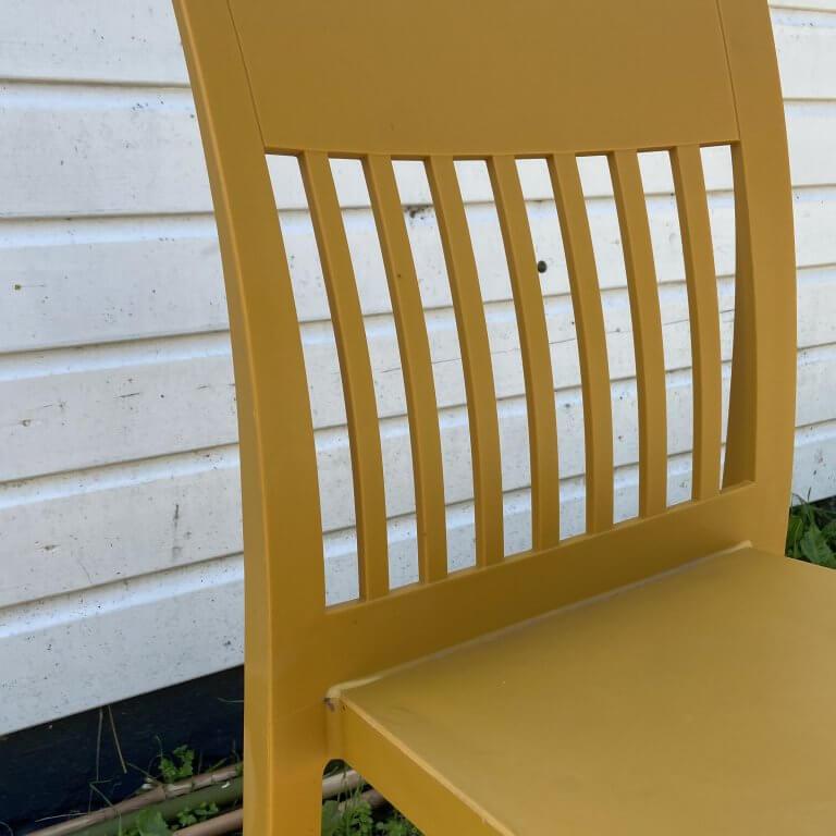Tuinstoel geel